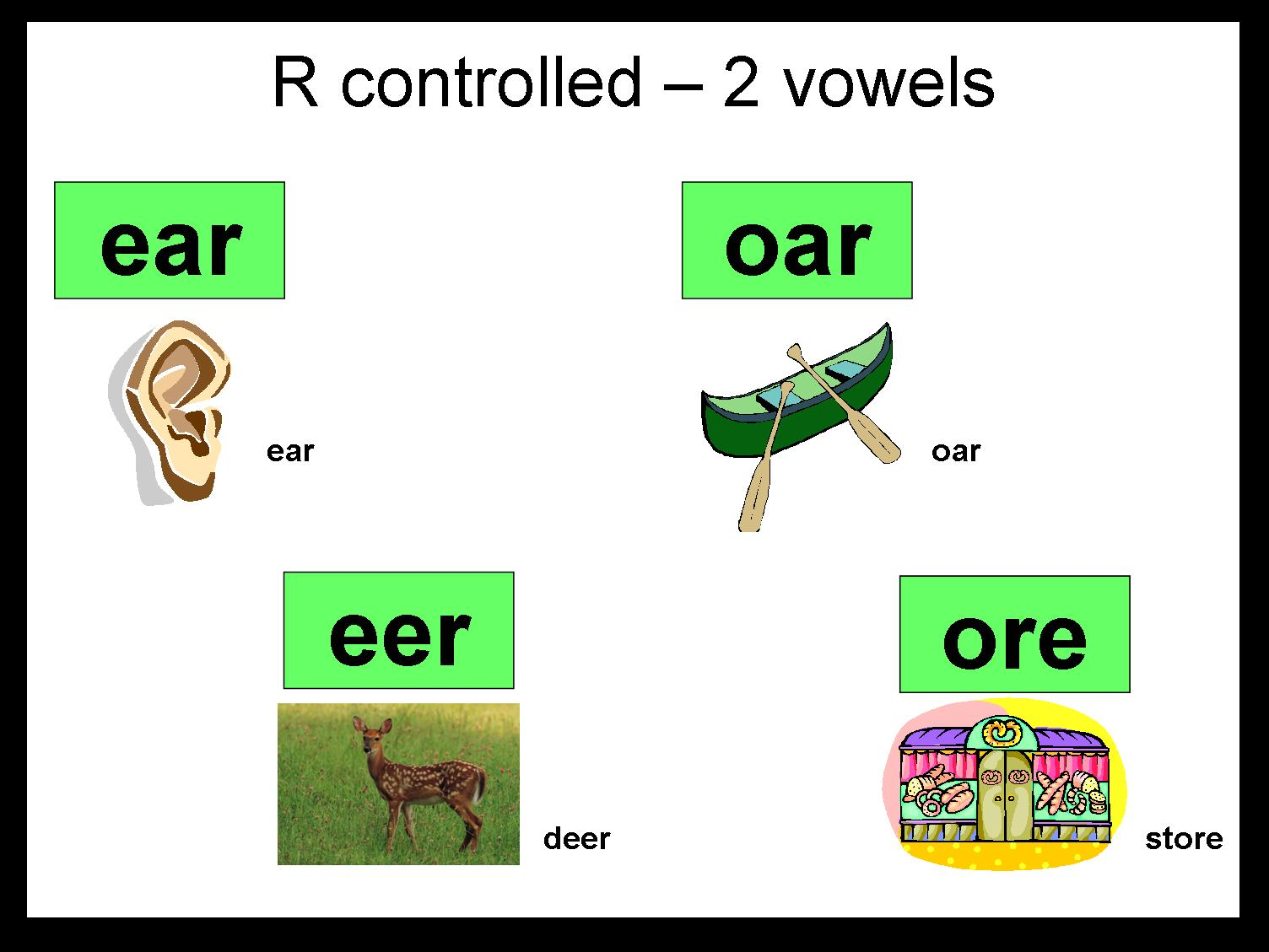 worksheet R Controlled Worksheets r controlled 2 vowel activities ear oar